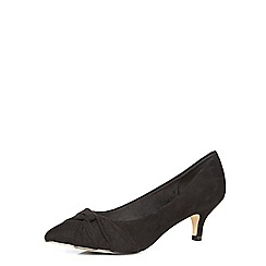 Dorothy Perkins - Black pointed wide fit courts
