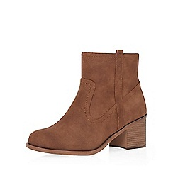 Dorothy Perkins - Wide fit choc 'whistle' boots