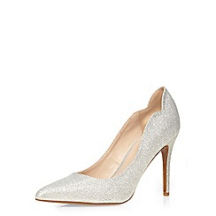 Dorothy Perkins - Wide fit 'wowza' silver courts