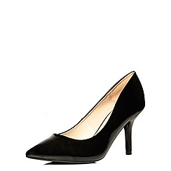 Dorothy Perkins - Wide fit black 'wyat' courts