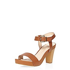 Dorothy Perkins - Wide fit tan 'whip' sandals