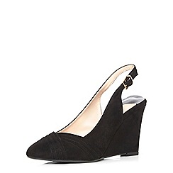 Dorothy Perkins - Black sling-back wedges