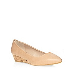 Dorothy Perkins - Nude 'womble' wedge courts