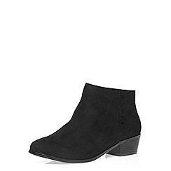 Dorothy Perkins - Wide fit black 'wrap' boots