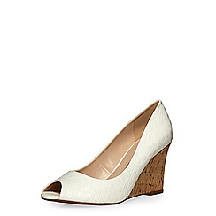 Dorothy Perkins - White'whist'peep wedge widefit