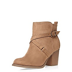 Dorothy Perkins - Wide fit nude 'wava' boots
