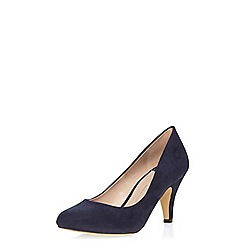 Dorothy Perkins - Navy wilamina wide court shoes