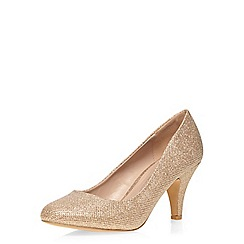 Dorothy Perkins - Gold wide fit courts