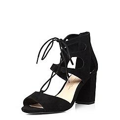 Dorothy Perkins - Wide fit black 'woody' sandals
