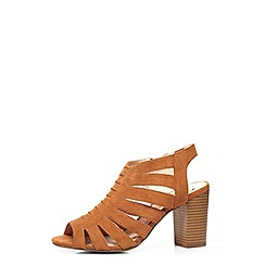 Dorothy Perkins - Tan 'wonderful' caged sandals