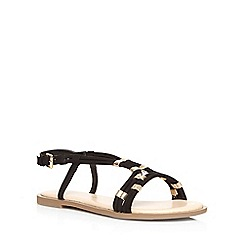 Dorothy Perkins - Black wide fit 'waxy' sandals