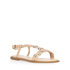 Dorothy Perkins - Nude wide fit 'waxy' sandal