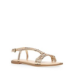Dorothy Perkins - Gold wide fit 'waxy' sandal