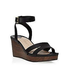 Dorothy Perkins - Black wide fit 'wontoni' wedge