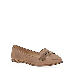Dorothy Perkins - Mink wide fit 'wok' loafers
