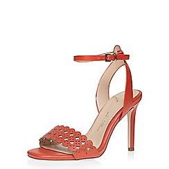 Dorothy Perkins - Orange 'woo' lazer cut sandals