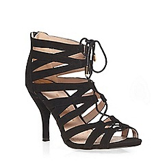 Dorothy Perkins - Black 'winns' ghillie wide fit sandals
