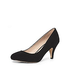 Dorothy Perkins - Wide fit black 'wilamina' mid courts