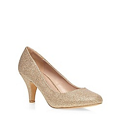 Dorothy Perkins - Wide fit gold 'wilamina' mid courts