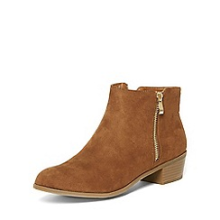 Dorothy Perkins - Wide fit tan wrapy boots