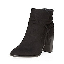 Dorothy Perkins - Widefit black wasp tassel boots