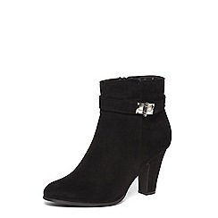 Dorothy Perkins - Wide fit black web lock boots