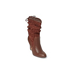 Dorothy Perkins - Widefit chocolate wool boots