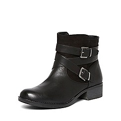 Dorothy Perkins - Black 'wagon' wide fit boots
