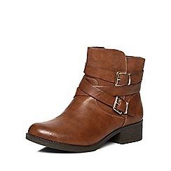 Dorothy Perkins - Tan wagon biker boots
