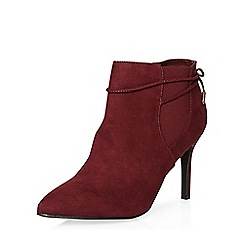 Dorothy Perkins - Burgundy wales pointed boots