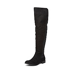 Dorothy Perkins - Wide fit black 'wind' knee boots