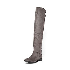 Dorothy Perkins - Widefit grey wind knee boots