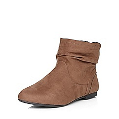 Dorothy Perkins - Tan wegan widefit slouch boots