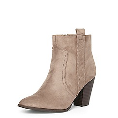 Dorothy Perkins - Taupe wide fit 'alicee' heel boots