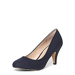 Dorothy Perkins - Wide fit navy 'wilamina' courts