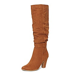 Dorothy Perkins - Wide fit tan 'Wynter' boots