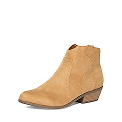 Dorothy Perkins - Tan 'madds' wide fit ankle boots