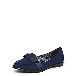 Dorothy Perkins - Wide fit navy 'lucinda' loafers