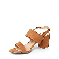 Dorothy Perkins - Wide fit tan 'sally' sandals