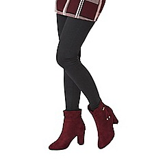 Dorothy Perkins - Wide fit burgundy exclusive 'anna' boots