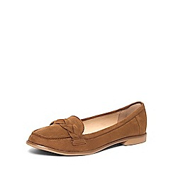 Dorothy Perkins - Wide fit tan 'liana' loafers