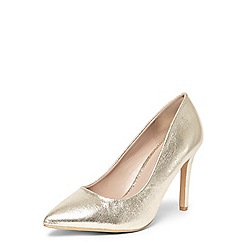 Dorothy Perkins - Wide fit gold Emily courts
