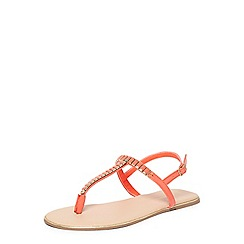 Dorothy Perkins - Wide fit coral felicity sandals