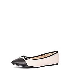 Dorothy Perkins - Wide fit nude 'Polly' pumps