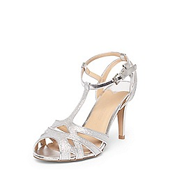 Dorothy Perkins - Wide fit silver 'Starstruck' heeled sandals