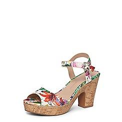 Dorothy Perkins - Wide fit print 'romana' sandals