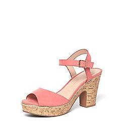 Dorothy Perkins - Wide fit pink 'romana' sandals