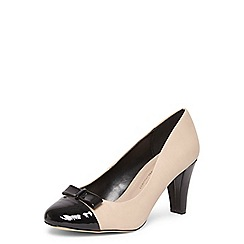 Dorothy Perkins - Wide fit nude 'Elly' bow courts