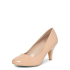 Dorothy Perkins - Wide fit nude 'wilamina' courts