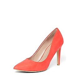 Dorothy Perkins - Wide fit coral 'emily' courts